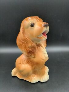Vintage-Royal-Copley-Ceramic-Art-Pottery-Brown-Cocker-Spaniel-Dog-Planter-AS-IS