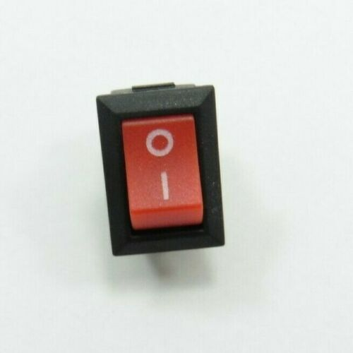 ON//OFF Round Rocker 2 Pin Switch 250V 125V 3A 6A Button SPST Red