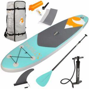 Xtreme 10ft Aqua SUP Paddle Board Inflatable StandUp PaddleBoard Mint