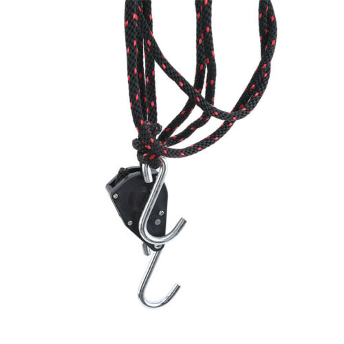 Rope Lock Pulleys Tie Down Kayak Canoe Bow and Stern Ratchet Strap J
