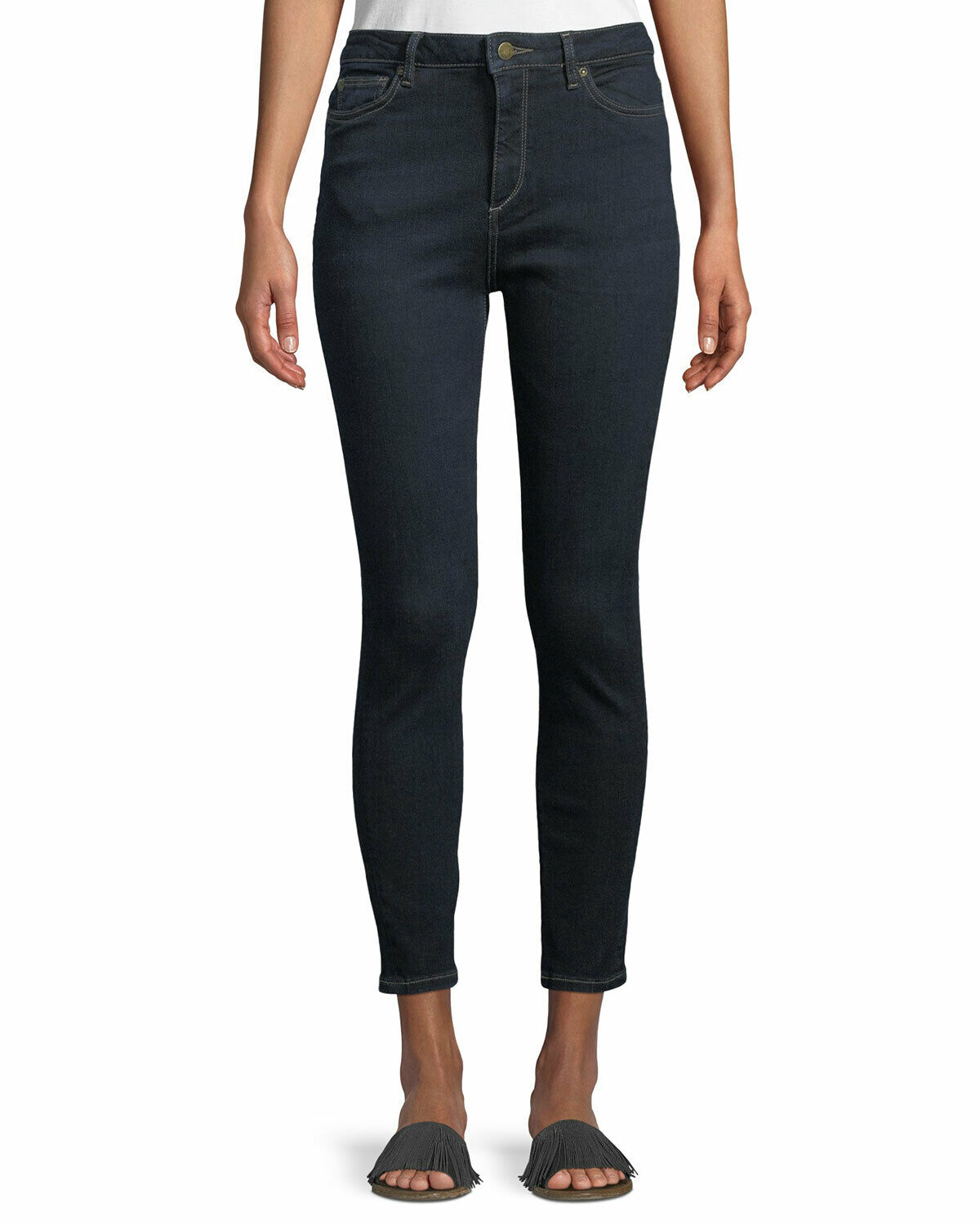 NWT DL1961 Size 25 Chrissy Trimtone Skinny High Rise Jeans in Alexandra