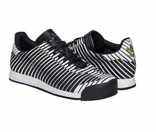 ADIDAS Trefoil Samoa Q16166 Men's Tennis Sneakers Shoes Zebra Black White Sz 12