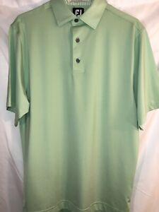 FJ-Foot-Joy-Mens-Small-Green-Mint-Polo-Golf-Shirt-Short-Sleeve-Stretch-Poly-EUC