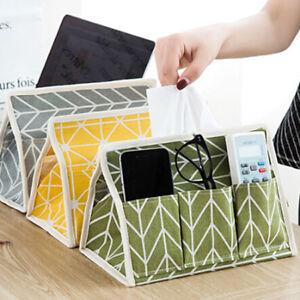 Home Table Cotton Linen Tissue Box Dispenser Paper Storage Holder Napkin Case MA