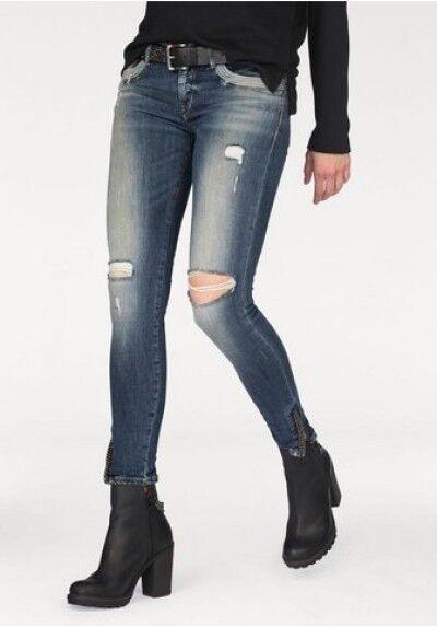 LTB Röhren-Jeans Marta, Super Slim Low Rise, blue, W26,27,29 L30