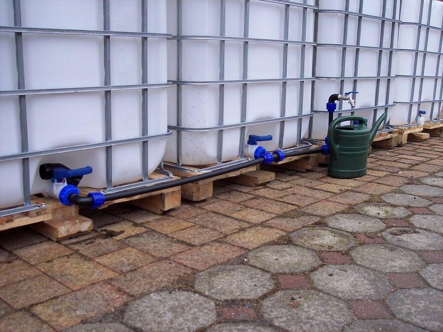 Verbindungsset para 4 tanque de agua con auslaufhahn y bombas puerto  1014 S + P