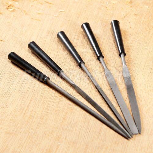 5Pcs Diamond Needle Files Kit For Metal Glass Stone Jewelry Wood Carving Tool
