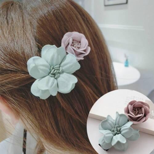 Handgemachte Stoff Blume Haarnadel Mädchen Blumen Haarschmuck Haarspange