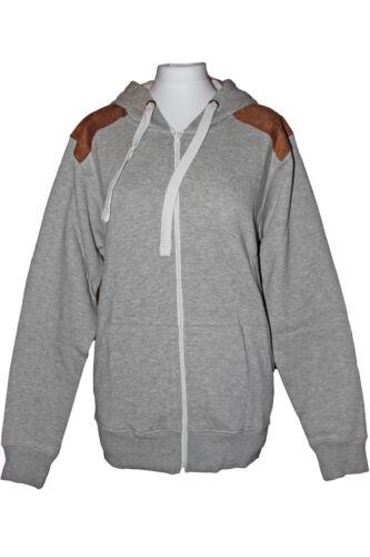 Felpa con cappuccio Nuova Felpa con Cappuccio in Pile Di Cotone Pullover Giacca Invernale Zipper Top