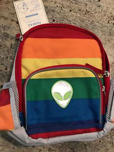 Pottery Barn Kids Fairfax Multi Stripe Pre-K Backpack NEW Alien ... 0050923071761