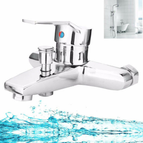 Bath Tub Shower Faucet Wall Mount Shower Head Faucet Valve Mixer Tap Tool Useful