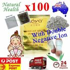 100 x Detox Foot Pad Patch KINOKI Herbal Weight loss toxin removal w Double Ion