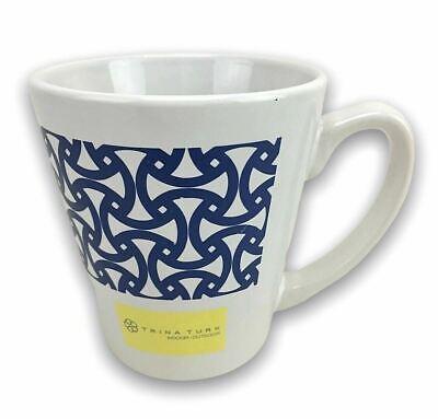 Rare Schumacher Trina Turk Ceramic Coffee Tea Cup Mug Santorini Print Marine Ebay