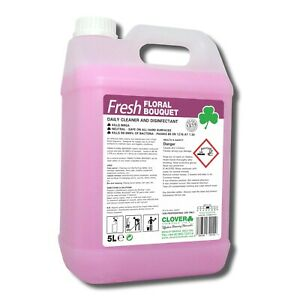 Anti-bacterial-Disinfectant-Spray-Clover-Floral-Surface-Cleaner-Kills-99-9-5L