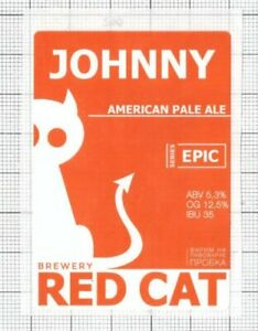UKRAINE-Micro-Red-Cat-Brewery-JOHNY-Amrican-Cat-beer-label-C2240-062