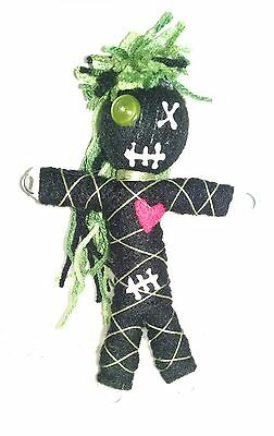Authentic Voodoo doll real green stitch 7 pins guide karma new orleans hoodoo