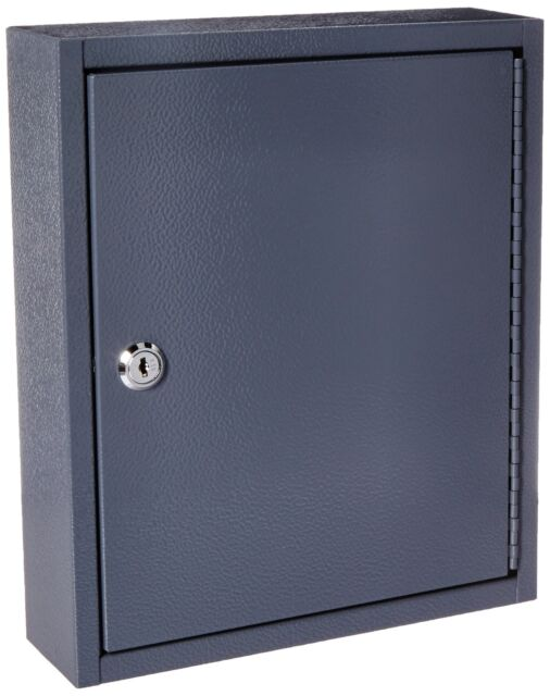 Buddy Products Key Cabinet, 30 Hooks, Steel, 3 x 12 x 10 Inches, Gray (0130-1)