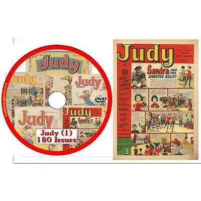 Judy Comics Collection (UK)  180 issues in .cbr format ON DVD (No1)