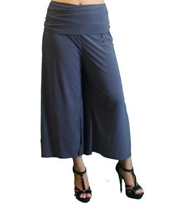 New Women\'s Plus Size Charcoal Gaucho (Capri) Pants Sizes 1X 3X 4X USA |  eBay