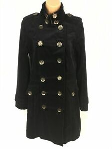 WOMENS-PRINCIPLES-MIDNIGHT-BLUE-COTTON-DOUBLE-BREASTED-FITTED-MILITARY-COAT-UK10