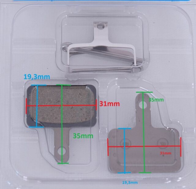 2 Paar Shimano B01S Resin Bremsbeläge BR-M 445 446 575 486 525 Disc Pads Beläge