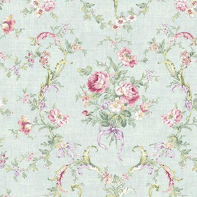 """12""""/31cm Wallpaper SAMPLE Feminine Cottage Floral Bouquet CW70204"""