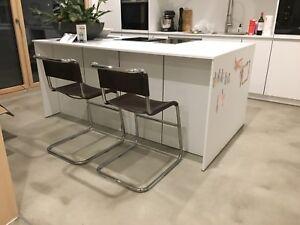 Details zu Zwei Thonet Barhocker S33 Mart Stam Marcel Breuer Bauhaus Hocker  Küche Barstühle