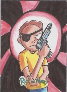 """Rick and Morty - Eminy """"Mina"""" Lais """"Evil Morty"""" Sketch Card"""