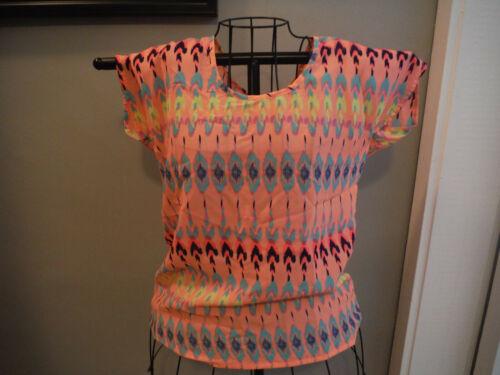 Fun & Flirt XS Neon Orange Short Sleeve Blouse