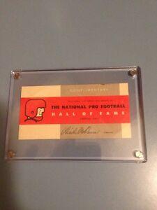 Vintage Rare 1964 Professional Football Hall Of Fame NFL Admission Ticket McCann