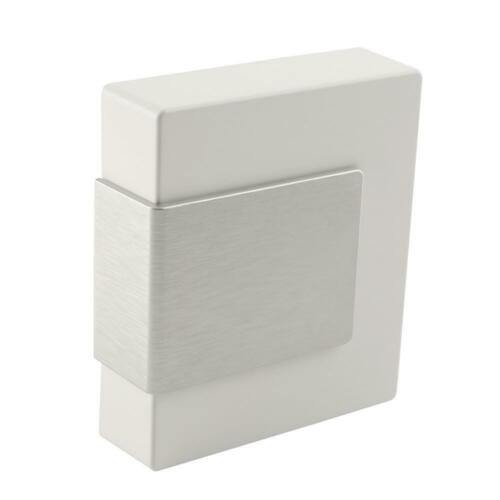 Hampton Bay Wireless or Wired Door Bell White with Brushed Nickel Accent