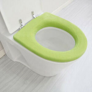 10X WC Warmer Toilet Closestool Washable Cloth Soft Seat Lid Cover Pad Bathroom