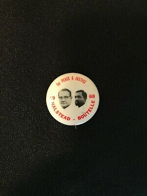 Presidential Socialist Workers Party Pin Back Campaign Button Halstead Boutelle