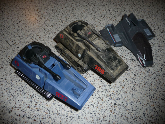 vintage GI Joe Cobra HISS Tank X2 black & blue Target + 2008 Night Specter