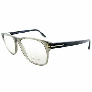 815bc9898add1 Tom Ford FT 5362 020 Transparent Grey Plastic Rectangle Eyeglasses ...