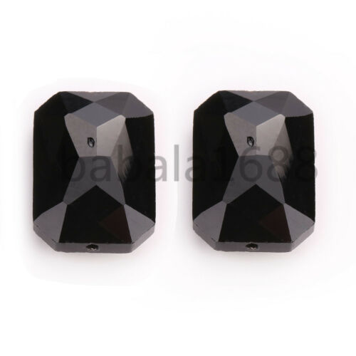 26mm Faceted Charms Rectangle Square Crystal Glass Bead Loose Spacer Beads