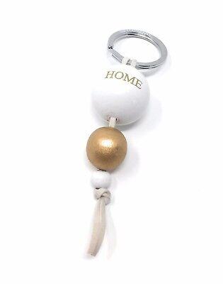 gold/weiß Schlüsselanhänger Schlüsselanhänger Kugel Home Mit Süßem Leder Bommel Anhänger Schlüsselanhänger