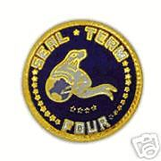 NAVY HAT PIN SEAL TEAM FOUR