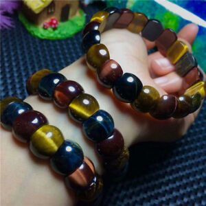 6 //8//10// 12mm Natural Colorful Tiger/'s Eye Gems Round Beads Bangle Bracelet AAA