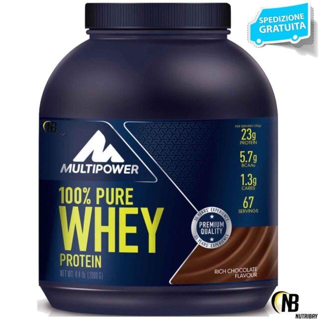 MULTIPOWER 100% Pure Whey Protein 2000 ( 2 kg ) Siero del Latte + OMAGGIO SCITEC