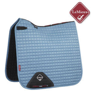 LeMieux  Prosport Suede Dressage Square - Ice bluee  will make you satisfied