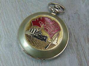 Molnija Jubilee edition 70 years of revolution vintage mechanical pocket watch