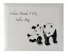 China Panda Münzbox / Box / Kassette für 20x 1 Oz Silber Münzen  / coins (Holz)