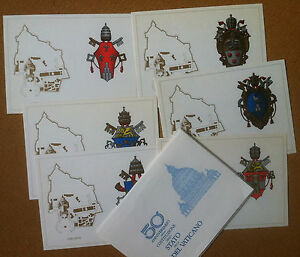 Interofilia-Vatican-1979-Vatican-6-POSTCARDS-ENVELOPE