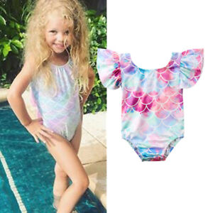 aa29c8bf69 Image is loading Cute-Toddler-Kids-Baby-Girls-Mermaid-Swimsuit-Bikini-