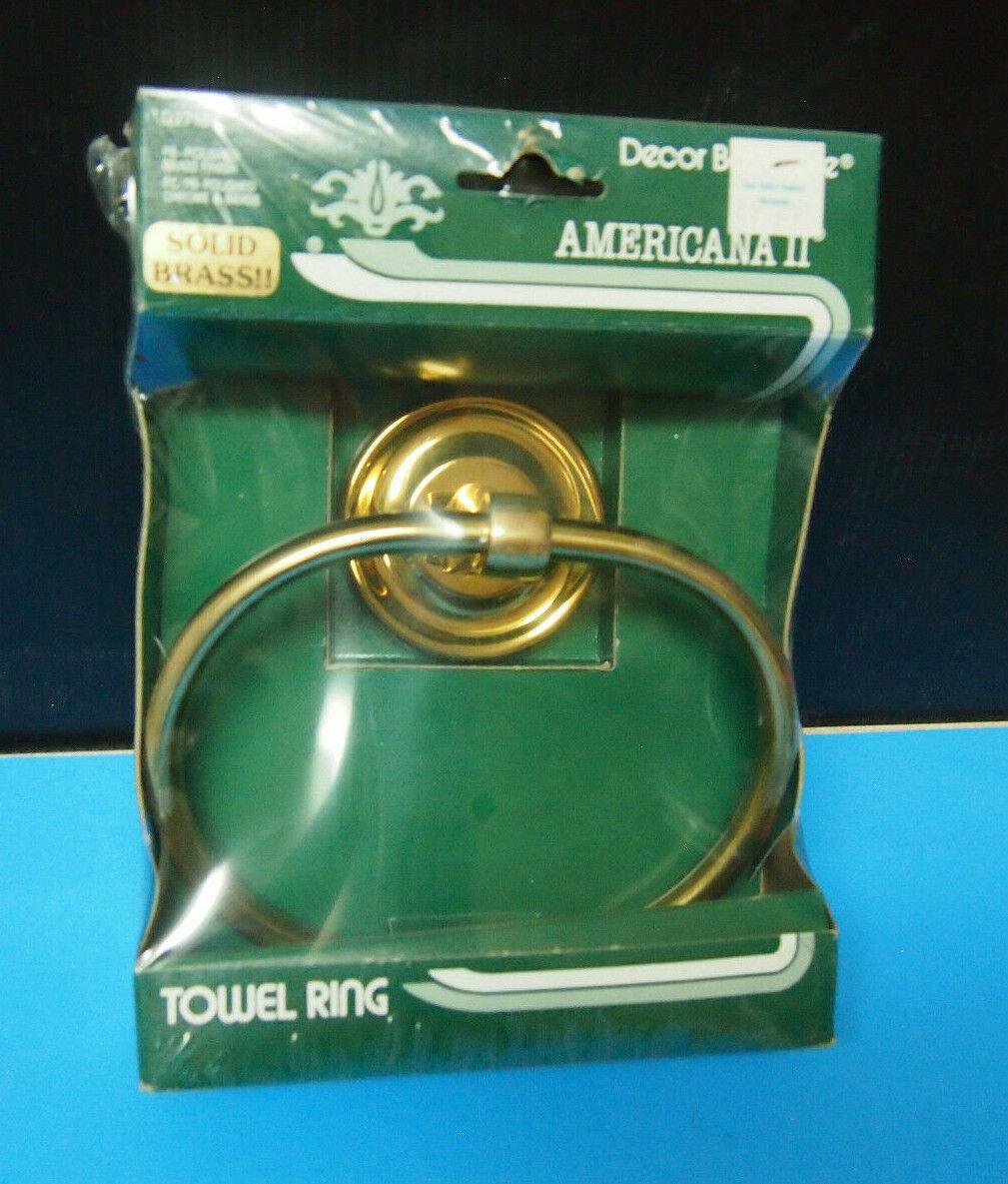 Decora Bathware Solid Brass Towel Holder High Polished NOS Heavy