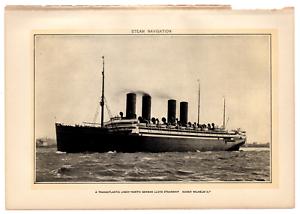 1902-Antique-Picture-German-Steamship-Transatlantic-Liner-Kaiser-Wilhelm-II