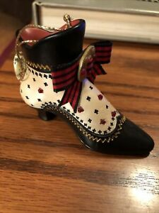 Ashton Drake Stepping in Time Shoe Ornament Tudor Rose Scottish NWT