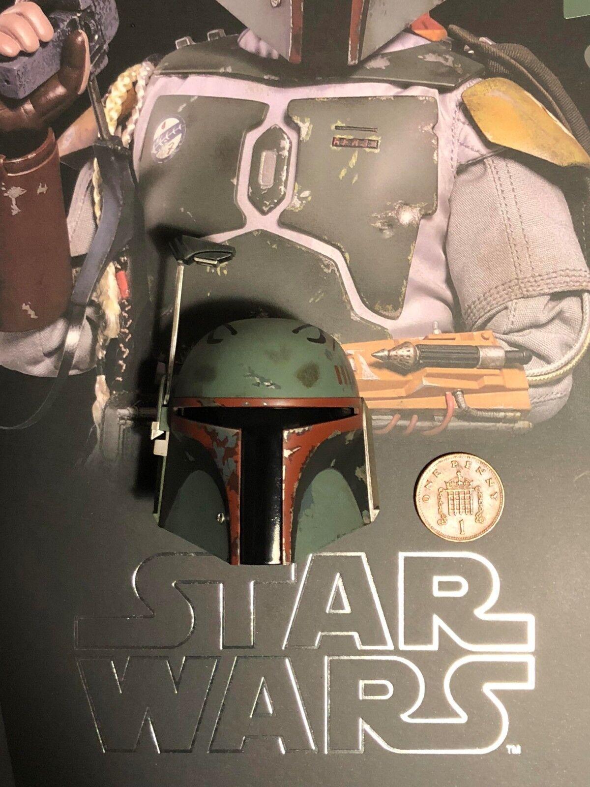Heißes spielzeug, star - wars - esb  boba fett  deluxe mms464 helm 1 locker 1   6 - skala