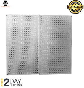 Pegboard Wall Mount Panel Board Steel Metal Garage Storage Organizer
